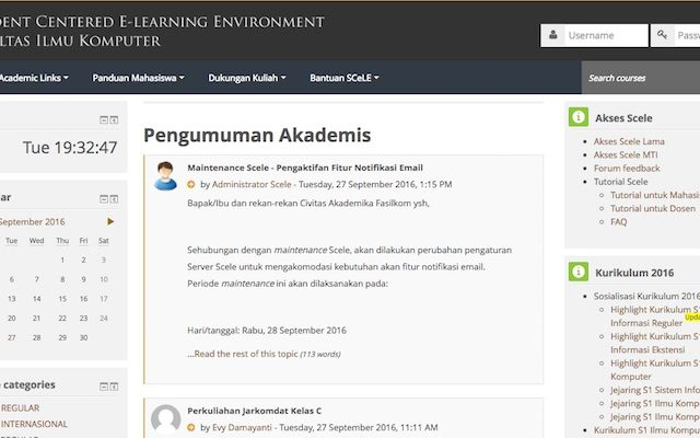 Student Centered e-Learning Environment