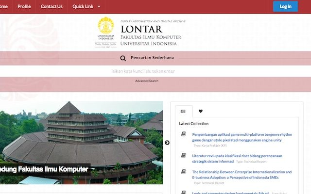 Lontar Digital Library